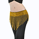 Women Dancewear Polystyrene With Beading Belly Dance Hip Scarf More Colors Available