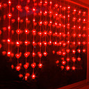 2.5Mx1M Red Crystal LED String lamp met 72 LED's - Kerst & Halloween decoratie