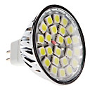 MR16 5W 24x5050 SMD 380-420lm 6000-6500K Natural White Light LED Spot-Lampe (12V)