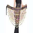 Polyester With Beading And 150 Coins Performance Dance Belt For Ladies