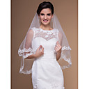 Elagant Elbow Wedding Veils With Lace Applique Edge (More Colors)