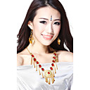 Performance Dancewear Alloy with Red Gem Belly Dance Necklace For Ladies