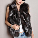 Elegant Sleeveless Fox Fur Evening/ Career Vest