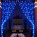 1Mx1.6M Blue Love Crystal LED de la lmpara LED de cadena con 64 - Decoracin de Navidad y Halloween