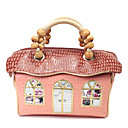Handmand Pink Vintage Fabric Style PU Leather Princess Lolita Handbag