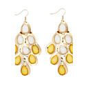 Charming Alloy Drops Design Crystal Drop Earrings