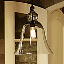 40W E27 Pendent Light with Bell Desgined Glass Shade
