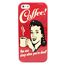 Woman and Coffee Hard Case for iPhone 5