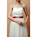 Excellent Satin/Crystal Women's Wedding/Evening Belt (More Colors)
