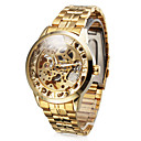 Casual Herenhorloge Met Mechnisch Uurwerk (Goud)
