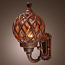 60W Antique Inspired Wall Light in Globe