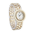 Women's Alloy Quartz Movement Glass Round Shape Dress Watch(More Color)