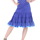 polister dancewear falda con volantes de baile latino para damas