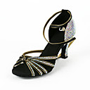 Damen Satin / Strass Obere Ankle Strap Latin / Salsa Dance Performance Schuhe
