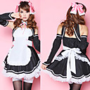 Sexy Cool Black and White Polyester Maid Suit