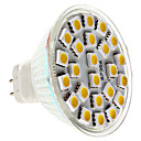 MR16 5W 24x5050 SMD 380-420lm 2800-3300K Warm White Light LED Spot Lampe (12V)