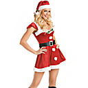 Jolie Feuille Décoration Red Velvet costumes de Noël (3 Pieces)
