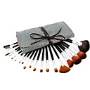19Pcs Professional Cosmetic Makeup Brushes Set with Leather Case