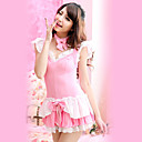 Sweet Ruffled Polyester Maid Suit with Bow (2 Colors) (2 Pieces)