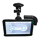 5,0 inch HD Touchscreen Dual Camera 120 graden Wide Angle View Car DVR Ondersteuning LED Night Vision
