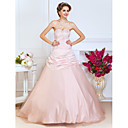 Ball Gown Sweetheart Floor-length Santin And Tulle Evening Dress