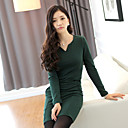 ALAN Long Sleeve V-Neck Bodycon Dress (More Colors)