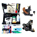 2 Machine Guns Tattoo Kit avec LED Power et 8 * 15ml Encre
