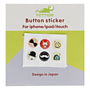 Cartoon Patroon Home Button Stickers voor iPhone 5 en anderen