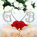 Beautiful Rhinestone Monogram Wedding Cake Topper