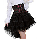 Exquisite Black And Red Lace Short Classic Lolita Rock