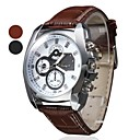 Men's Leather Analog Quartz Wrist Watch (Assorted Colors)