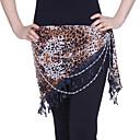 Dancewear Polyester With Animal Print Performance Belly Dance Hip Scarf For Ladies