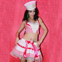 Sexy and Sweet White and Pink Terylene and Lycra Sailor Suit (2 Pieces)