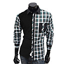 Men's Cheap Thicken Long Sleeve Chequer Print Leisure Shirt(Assorted Colors And Sizes)