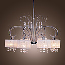 Contemporary Crystal Chandelier with 8 Lamp Shade (Chrome Finish)