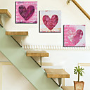 Stretched Canvas Print Abstract love Design Set of 3 1301-0130