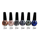 Glitter Nail Polish (15 ml, 3 botellas)