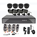 8CH CCTV DVR-Kit fr Home Security (4 Auen-und 4 Indoor wasserdichte Kamera)