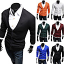 Men's Cheap Pure Color Organic Cotton Knitwear(Assorted Colors And Sizes)