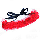 Bridal Jewelry Strappy Red Rose Lace Choker Necklace