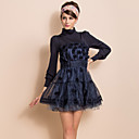 TS VINTAGE Knitted Top Organza Floral Ball Dress