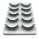 5 Pair Black Fiber eyelash False Eyelashes (5-023)