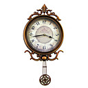 "21"" Elegant Metal Wall Clock with Pendulum"