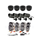 Day/Night Security Camera 8 Pack(4 Waterproof Outdoor Cameras &amp; 4 Indoor Cameras)