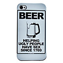 Caso cerveja padro rgido para iPhone 4/4S