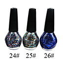 3-color brillo precioso esmalte de uñas (15 ml, 3 botellas)