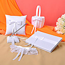 Wedding Collection Set in White Satin With Ribbons (5 Pieces)