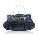 Gorgeous Satin with Beading and Sequins Evening Handbag/Clutches(More Colors)