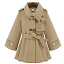 Donna A-Line Cashmere Miscele Coat Belted
