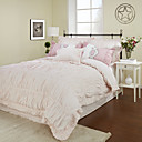 3PCS 250TC Pleated Percale Cotton Duvet Cover Set